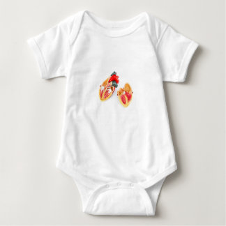 Human heart model isolated on white background baby bodysuit