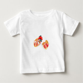 Human heart model isolated on white background baby T-Shirt