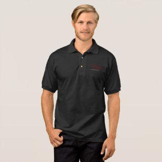human jesus black polo shirt