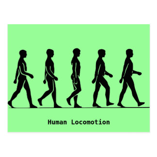 Human Locomotion Postcard