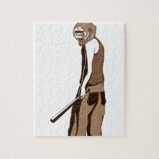 human monkey with stick jigsaw puzzle