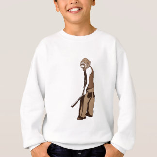 human monkey with stick sweatshirt