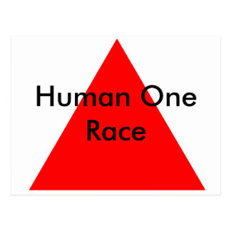 Human One Race The MUSEUM Zazzle Gifts Postcard
