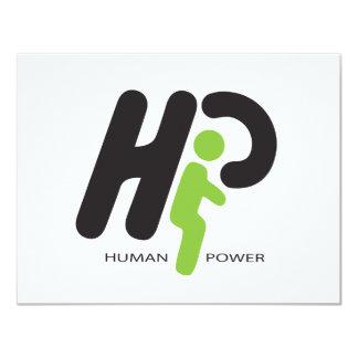Human Power 11 Cm X 14 Cm Invitation Card