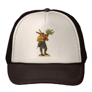 Human Rabbit With GIANT CARROT Trucker Hat