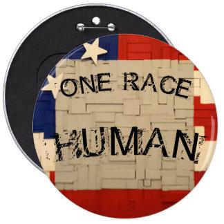 HUMAN Race 6 Cm Round Badge