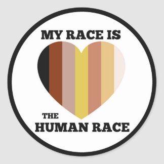 "Human Race Sticker - 3"""