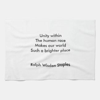 Human race unity hand towels