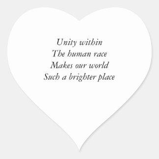 Human race unity heart sticker