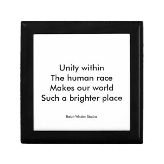 Human race unity small square gift box