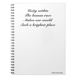 Human race unity spiral note book