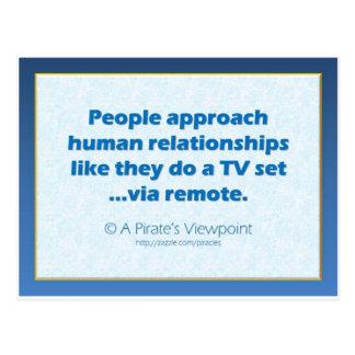 Human Relationships Postcard