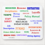 Human Resources Swear Words Annoying Funny HR Mouse Pad