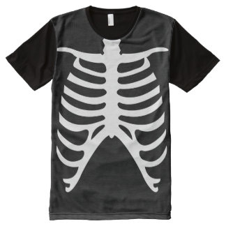 Human Rib Cage Halloween Costume All-Over Print T-Shirt
