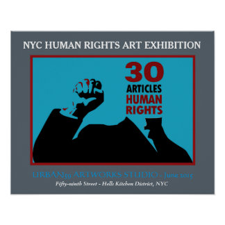 HUMAN RIGHTS ART POSTER