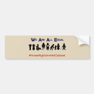 Human Rights Equality Disability Bumper Sticker