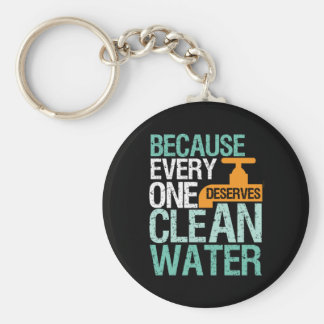 Human Rights Everyone Deserve Clean Water Activist Key Ring
