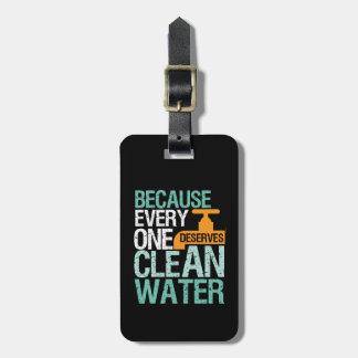 Human Rights Everyone Deserve Clean Water Activist Luggage Tag
