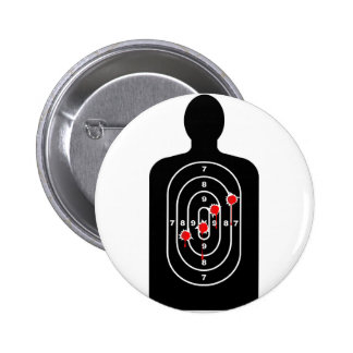 Human Shape Target With Bullet Holes 6 Cm Round Badge