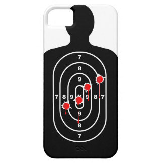 Human Shape Target With Bullet Holes Barely There iPhone 5 Case