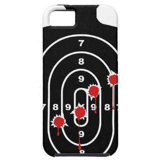 Human Shape Target With Bullet Holes iPhone 5 Cover