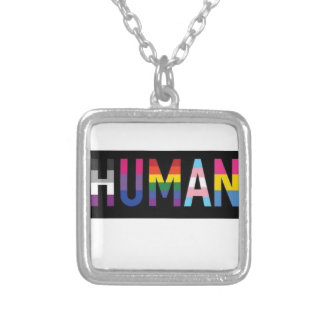 Human Silver Plated Necklace