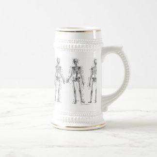 Human Skeleton Diagram Beer Stein Beer Steins