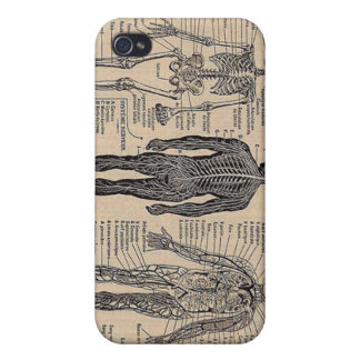 Human Skeleton Diagram iPhone Case Case For iPhone 4