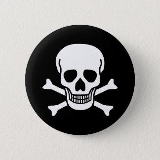 Human Skull 6 Cm Round Badge