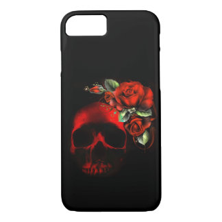 Human skull and roses iPhone 7 case