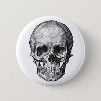 Human Skull Button