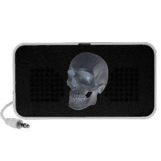Human skull doodle speaker