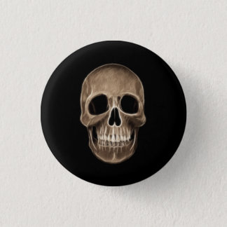 Human Skull Halloween X-Ray Skeleton 3 Cm Round Badge