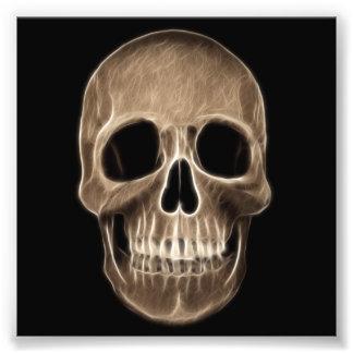 Human Skull Halloween X-Ray Skeleton Photo Print