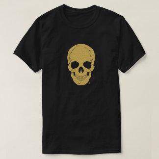Human Skull Head Gold T-Shirts