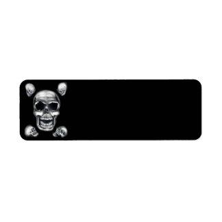 Human Skulls Black Return Address Labels
