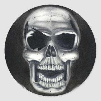 Human Skulls Black Stickers