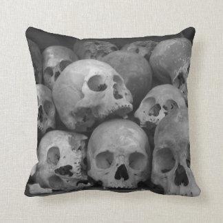 Human Skulls throw pillow