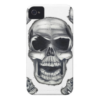 Human Skulls White Blackberry Bold Case