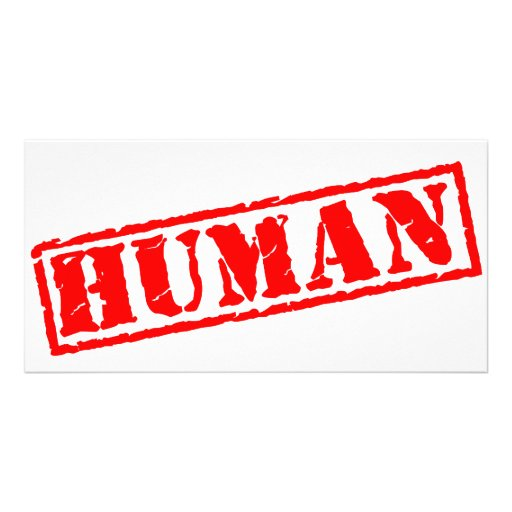 Human Stamp Photo Cards