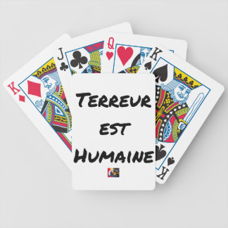 HUMAN TERROR EAST - Puns François City Bicycle Playing Cards