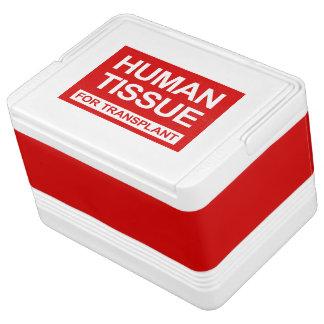 """HUMAN TISSUE FOR TRANSPLANT"" COOLER"