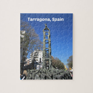 Human tower statue, Spain Jigsaw Puzzle