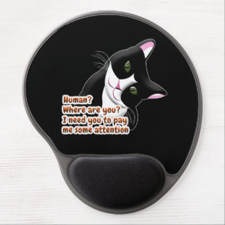Human? Where are you? Cat Gel Mouse Pad