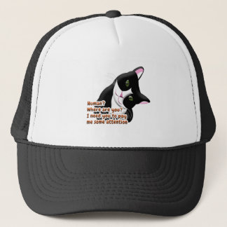 Human? Where are you? Cat Trucker Hat
