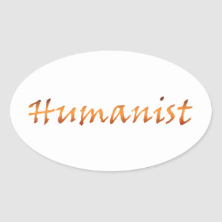 Humanist Gold Oval Sticker