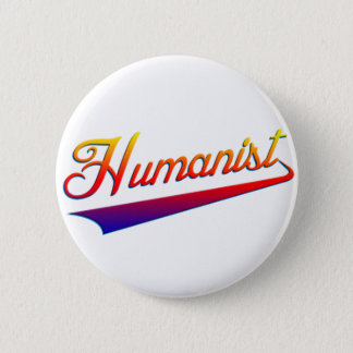 Humanist Orange Swash 6 Cm Round Badge