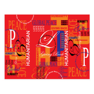 Humanitarian Graffiti Postcard