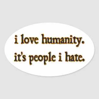 Humanity Oval Sticker
