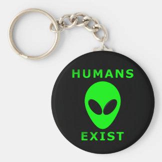 Humans Exist Basic Round Button Keychain